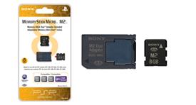 8GB Memory Stick Micro™ M2™ (includes M2 Duo adaptor)