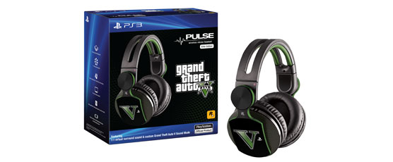 Details about GRAND THEFT AUTO V,GTA 5 ELITE PULSE WIRELESS STEREO HEADSET PS3,PS VITA,PS4