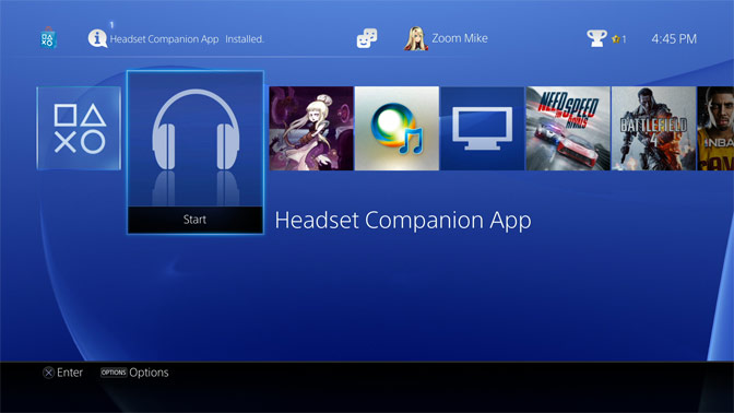 PlayStation® Headset Companion App