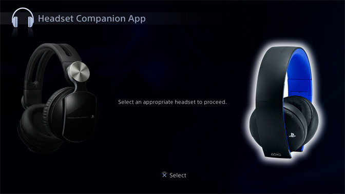Headset Companion App - PlayStation®