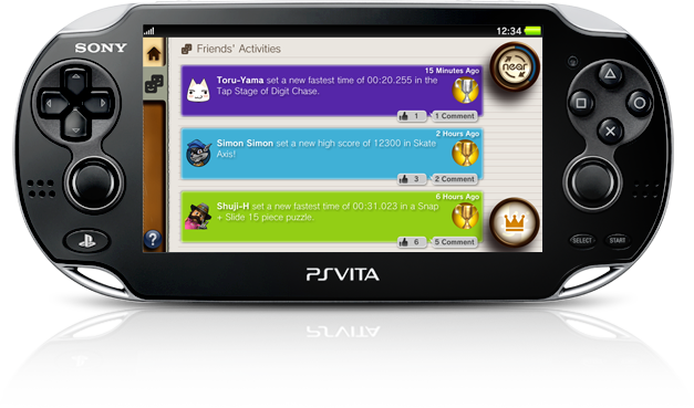 PS Vita Friends Application