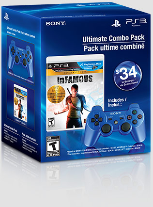 inFAMOUS™ Collection & Metallic Blue DUALSHOCK®3 Wireless Controller