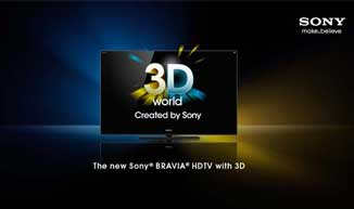 New Sony® BRAVIA® HDTVs with 3D
