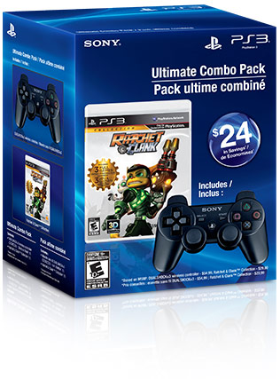 Ratchet & Clank™ Collection & Charcoal Black DUALSHOCK®3 Wireless Controller