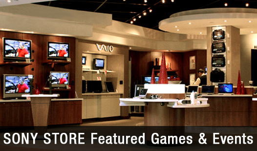 Sony Store Featured Games & Events