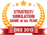 Dice 2013 - Strategy Simulation Game of  the  Year